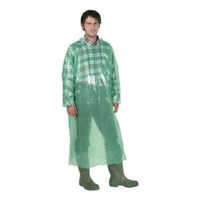 Egyszer használatos kabát, zöld