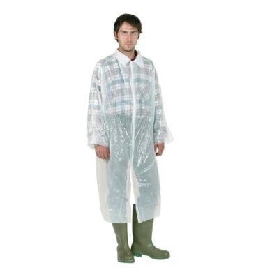 Egyszer használatos kabát, fehér