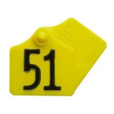 Primaflex füljelzők, sárga, mindkét oldala számozott