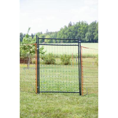 Ajtó elektromos kerítéshálóhoz, árammal ellátható, teljes készlet, magasság 105 cm