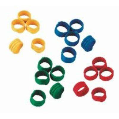 Lábgyűrű spirál 16 mm, vegyes színben műanyag 100 db