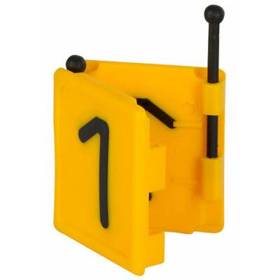 Duo jelölő szám 1, sárga 6 db/cs