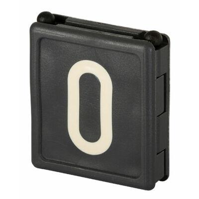 Duo jelölő szám 0, fekete 6 db/cs