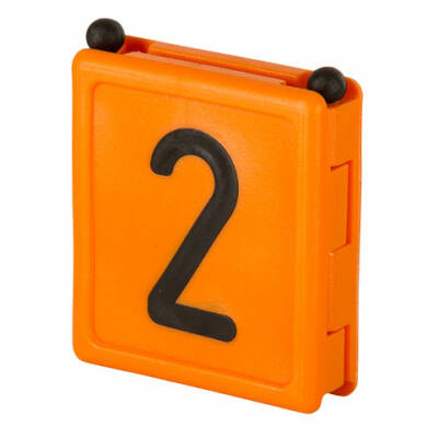 Duo jelölő szám 2, narancssárga 6 db/cs