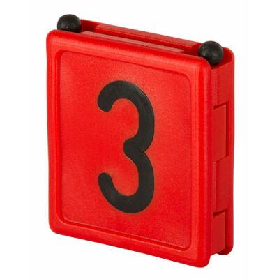 Duo jelölő szám 3, vörös 6 db/cs