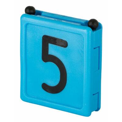 Duo jelölő szám 5, kék 6 db/cs