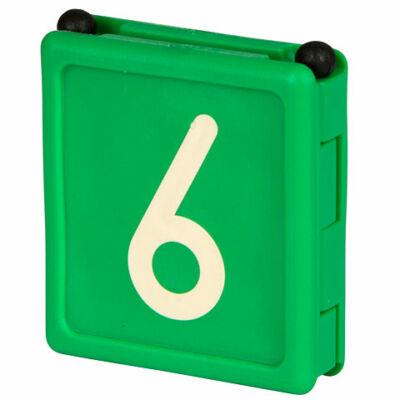 Duo jelölő szám 6, zöld 6 db/cs