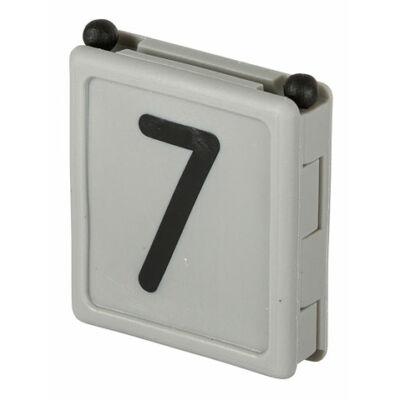 Duo jelölő szám 7, szürke 6 db/cs