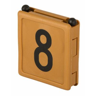Duo jelölő szám 8, barna 6 db/cs