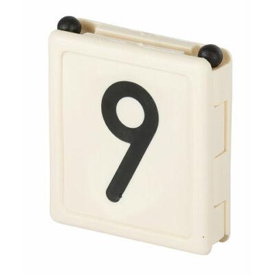 Duo jelölő szám 9, fehér 6 db/cs