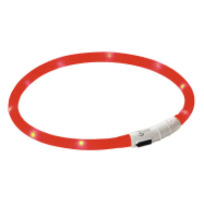LED-es nyakörv, piros,